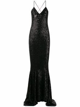 Norma Kamali приталенное платье с пайетками ST4293SQ137001