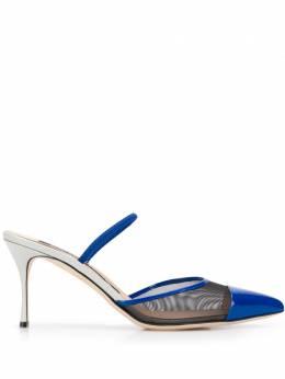 Sergio Rossi туфли с сетчатой вставкой и заостренным носком A88390MFN922