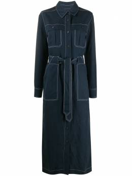 Mara Hoffman джинсовое платье миди с поясом W011210560