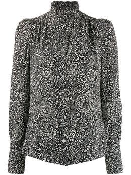 Isabel Marant блузка Lamia с высоким воротником и принтом HT125820P021I