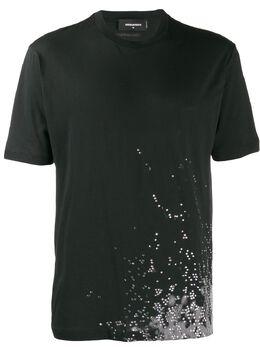 Dsquared2 футболка со стразами S74GD0692S21600
