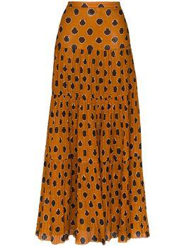 Johanna Ortiz ярусная юбка макси с принтом F614AE