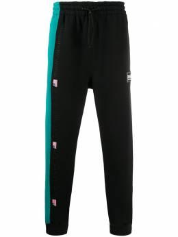Alexander Wang спортивные брюки с контрастной вставкой 6CC1204013