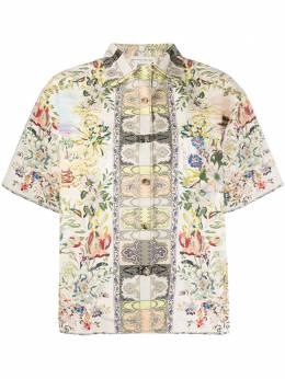 Etro рубашка с короткими рукавами и цветочным принтом 135554372
