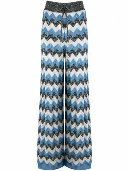 M Missoni трикотажные брюки с узором зигзаг 2DI001782K005M