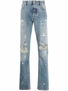 Unravel Project прямые джинсы средней посадки с прорезями UMYA003S20DEN0054500