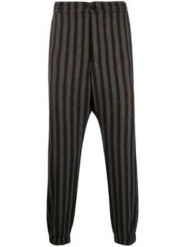 Etro полосатые брюки прямого кроя 1W1071183