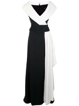 Tadashi Shoji платье макси в стиле колор-блок ALG20546L