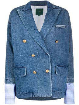 Jejia двубортный джинсовый блейзер из денима 2839J1G001L205068