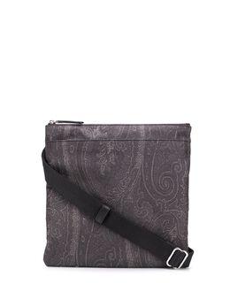 Etro жаккардовая сумка-мессенджер с узором пейсли 0H7578110