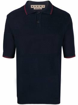 Marni трикотажная рубашка-поло POMG0019EQS17220