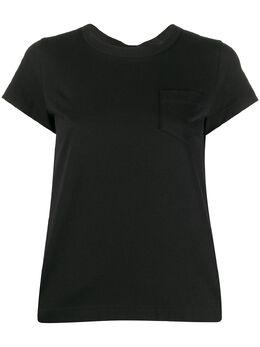 Sacai футболка с контрастной вставкой на спине 2004997