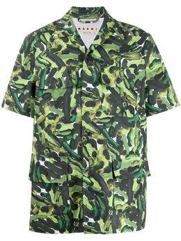 Marni рубашка с короткими рукавами и принтом CUMU0145A0S52765