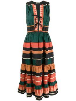 Ulla Johnson платье Kaiya в полоску PS200103