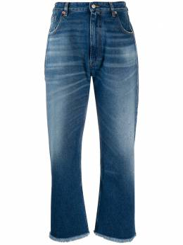 Mm6 Maison Margiela джинсы широкого кроя с бахромой S32LA0210S30589