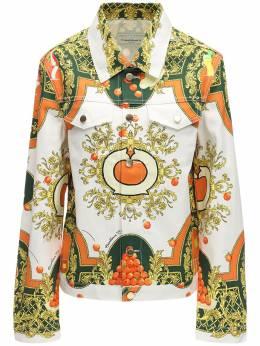 Printed Les Oranges Cotton Denim Jacket Casablanca 71IXLE008-TEVTIE9SQU5HRVM1