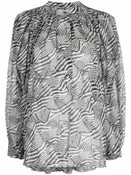 Isabel Marant блузка с абстрактным принтом и плиссировкой HT169520P024I