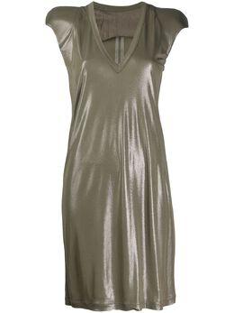 Rick Owens блестящее платье с V-образным вырезом RP20S1547JJ