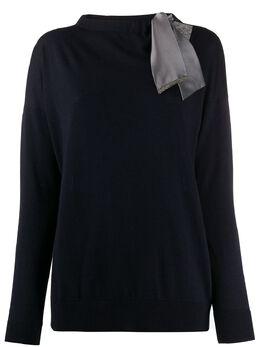 Fabiana Filippi свитер с завязками и вырезами MAD260W1360000A508