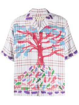 Marni рубашка с принтом CUMU0153P0S52720