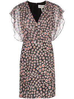 Saloni платье Brooke с геометричным принтом BROOKE10189
