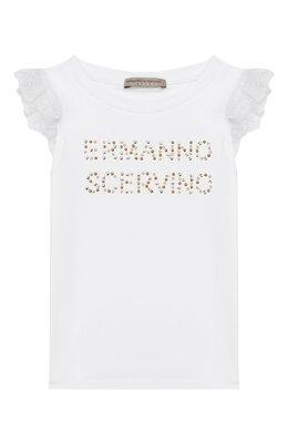 Хлопковая футболка Ermanno Scervino 46I TS09 JEA/4-8