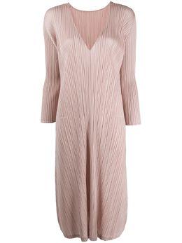 Pleats Please Issey Miyake плиссированное платье миди PP06JH126