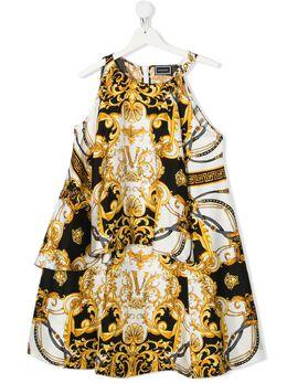 Young Versace платье без рукавов с принтом Baroque YC000241A233325