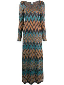 M Missoni платье с вышитым узором зигзаг 2DG003522J002L