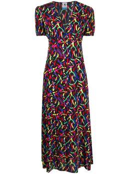 M Missoni креповое платье с абстрактным принтом 2DG003332W003D