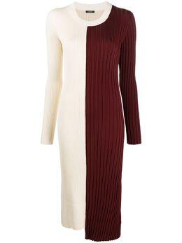 Joseph платье миди Diane в стиле колор-блок JF004604