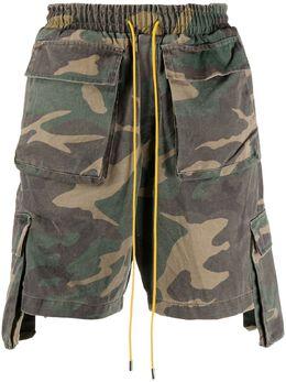 Rhude шорты карго с камуфляжным принтом 03ASR00401