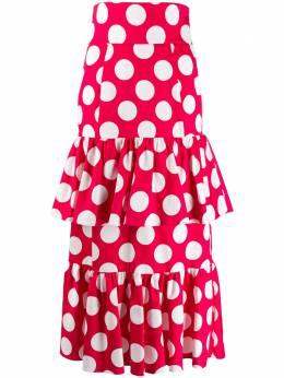 Sara Battaglia многослойная юбка в горох SB2009318