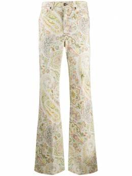 Etro расклешенные джинсы с принтом пейсли 137059836