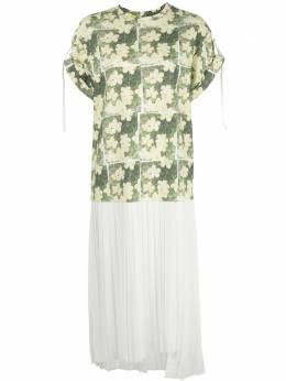 3.1 Phillip Lim платье-рубашка с цветочным принтом и плиссировкой S2029340DAI