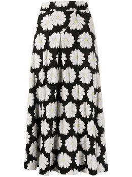 Paco Rabanne юбка с завышенной талией и цветочным принтом 20EJJU108CO0351