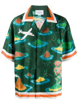 Casablanca рубашка с принтом MS20SH003