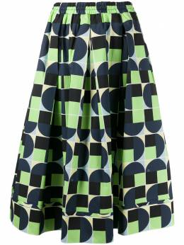 Fay юбка с геометричным принтом NXW9240696SRWC7A38