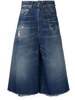 Mm6 Maison Margiela джинсовая юбка А-силуэта S62MU0027S30460