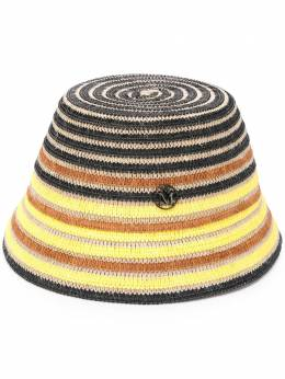 Maison Michel шляпа в полоску 1111004001