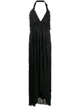 Ermanno Ermanno Scervino платье с вырезом халтер и кружевом AB12GPO