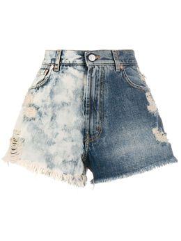 Givenchy джинсовые шорты с эффектом потертости BW50J550FX