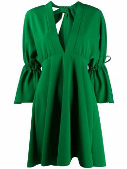 Sara Battaglia платье с глубоким вырезом и кулиской SB5023TE301S0