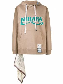 Maison Mihara Yasuhiro худи с декоративным платком A04HD641