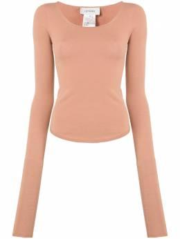 Lemaire футболка из джерси с U-образным вырезом W201KN437LK093