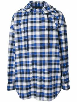 Juun.J клетчатая рубашка с капюшоном JC0264P15P
