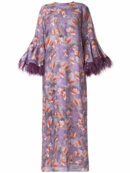 Bambah платье-кафтан Camelia с перьями RM20BMRM2016