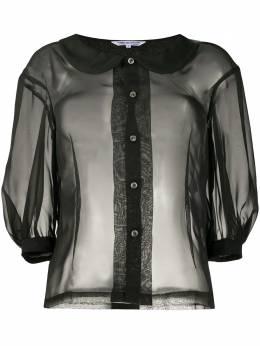 Comme Des Garcons Comme Des Garcons прозрачная рубашка с рукавами три четверти REB017051G1