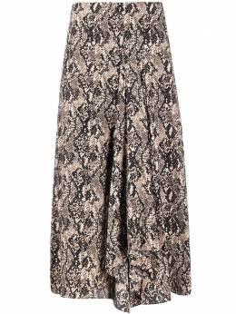 Veronica Beard юбка миди со змеиным принтом 2001CDC013264