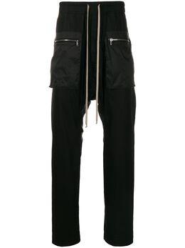 Rick Owens DRKSHDW брюки с низким шаговым швом DU20S5385CRND